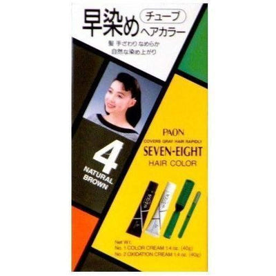 Paon Seven-Eight Permanent Hair Color Kit - #4 Natural Brown-PAON