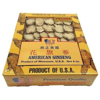 Premium American Ginseng Slices-Medium Slice (4oz Box)-Buy at New Green Nutrition