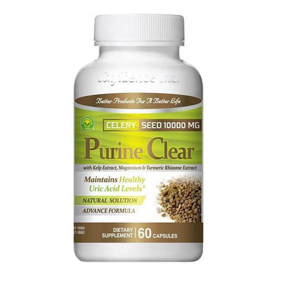 Purine Clear, Celery Seed Extract 1000 mg (60 Capsules)-Confidence USA,