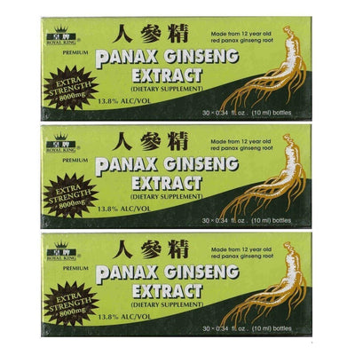 Royal King Red Panax Ginseng Extract 8000mg (30 Vials X 10ml) - 3 Boxes-Royal King