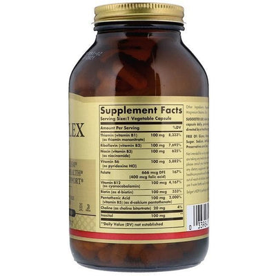 "Solgar B-Complex ""100"" (250 Vegetable Capsules)-Buy at New Green Nutrition"