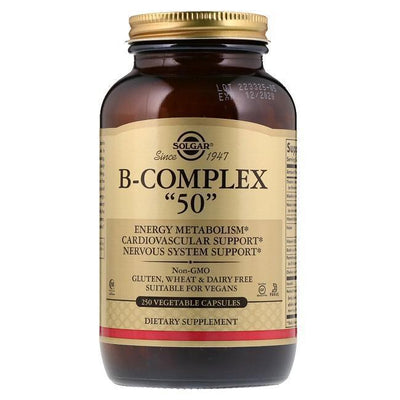 "Solgar B-Complex ""50"" (250 Vegetable Capsules)-Solgar"