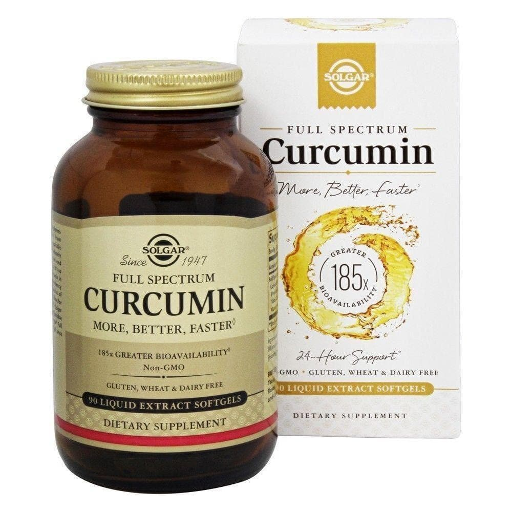 Solgar Full Spectrum Curcumin Liquid Extract (90 Softgels)-Solgar