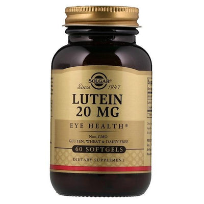 Solgar Lutein 20 MG, Eye Health (60 Tablets)-Solgar