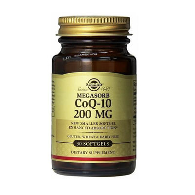 Solgar Megasorb CoQ-10 200 mg (30 Softgels) Additional 10 Softgels Free-Solgar