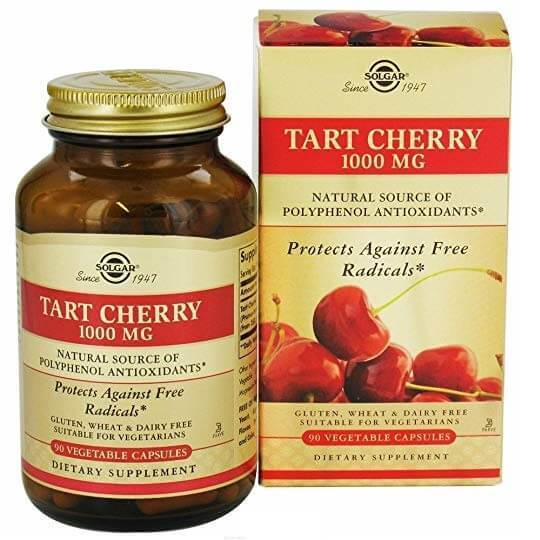 Solgar Tart Cherry 1000 MG (90 Vegetable Capsules)-Buy at New Green Nutrition