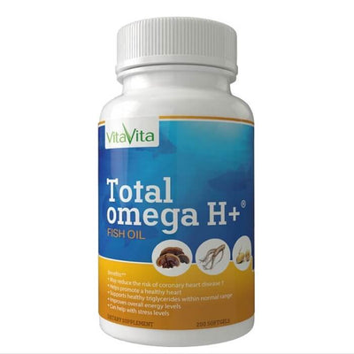 Total Omega H+, EPA/DHA with American Ginseng, Reishi Spore & Maca (200 Softgels)-Buy at New Green Nutrition