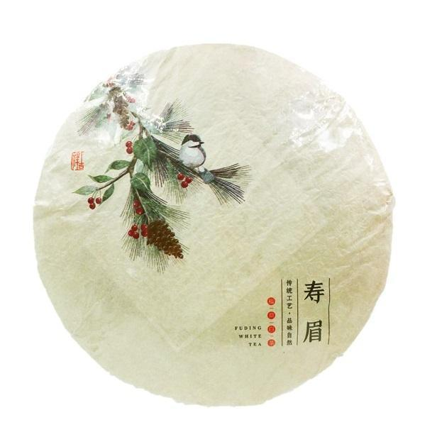 YongWell FuDing Natural Premium Shou Mei Aged Chinese White Tea Cake 350g (12.3oz)-YongWell