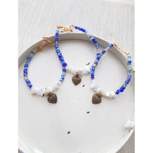 Fanciful Heart Bracelet in Shades of Blue