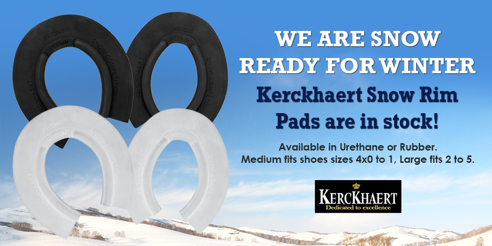 Kerckhaert Snow Rim Pads Rubber and Urethane for Horseshoes Winter