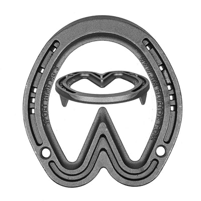 Jim Blurton Sport Hind Bar Steel Horseshoes - per Pair