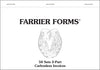 Farrier Forms Invoice Book