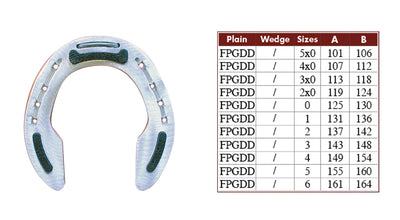 Colleoni FPGDD Hind Rubber Aluminum Horseshoes - per Pair
