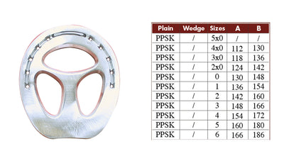 Colleoni PPSK Straight Bar Aluminum Horseshoes - per Pair
