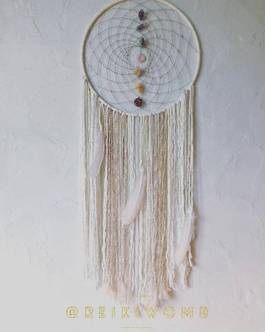 Basking in White Light 7 Chakra Dreamcatcher