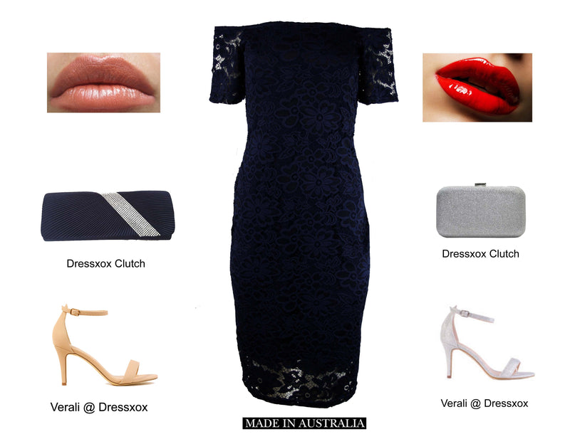 How to style a navy dress