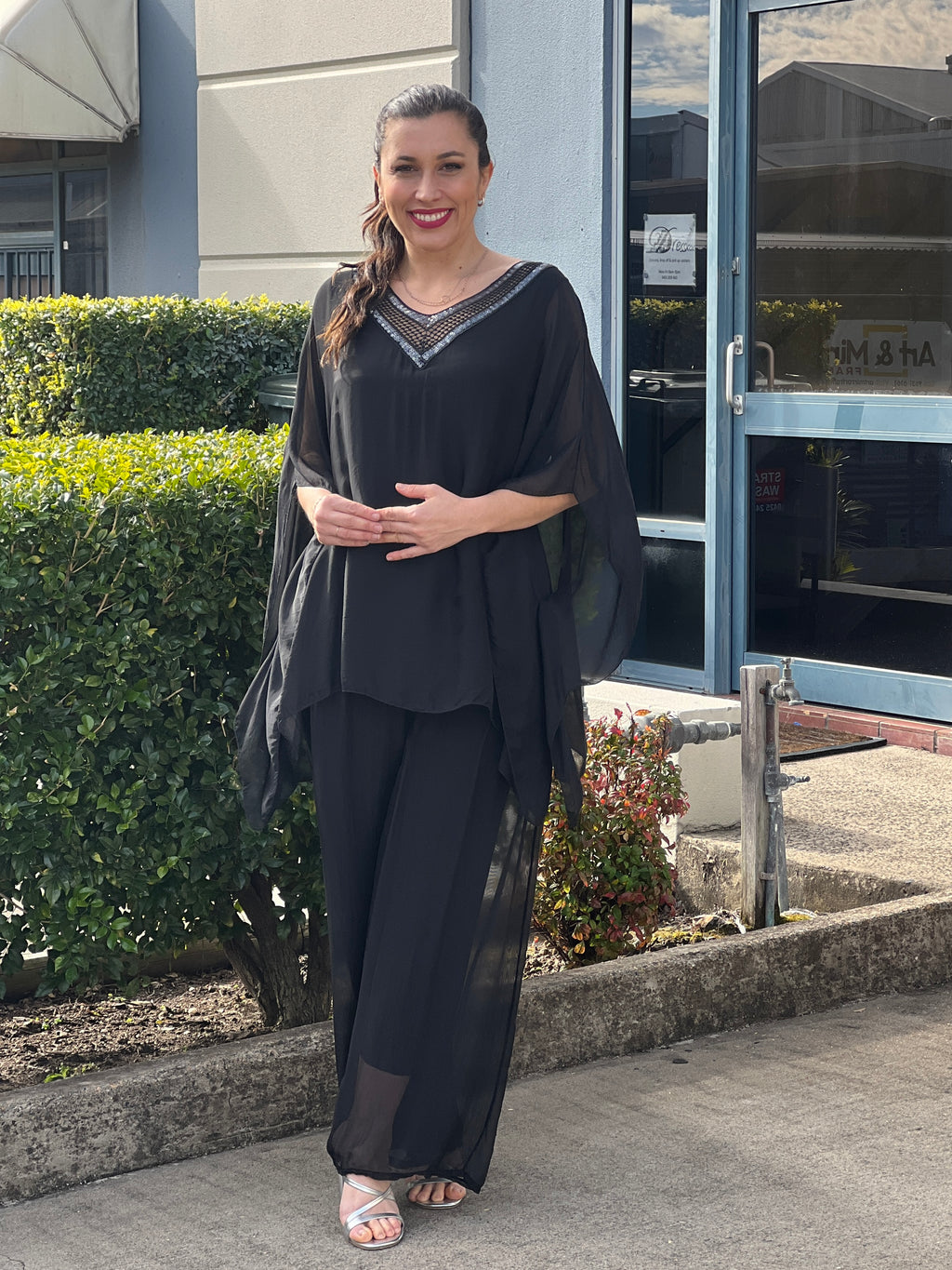 Tulum Abstract Shirt Dress