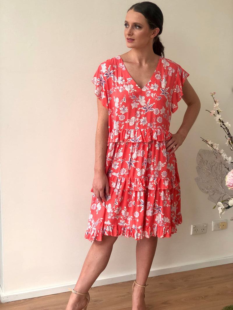 Malani Coral Bloom Dress