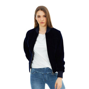 Vegan Velvet Bomber Jacket 'Molly'