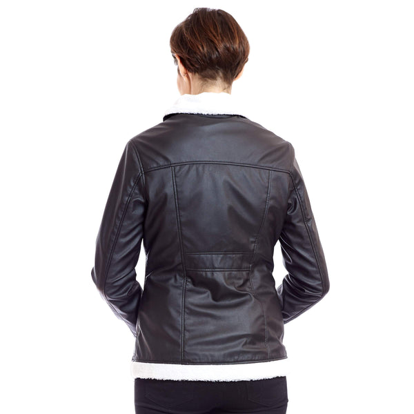 Vegan Leather Aviator Bomber 'Kathryn' - au.jamesandco.boutique