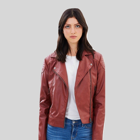 Biker Vegan Leather Jacket 'Cassandra'