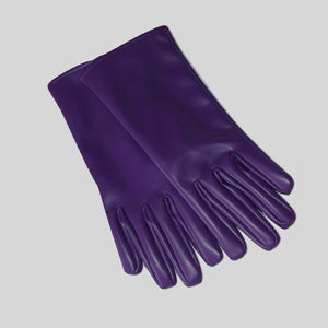 Gloves Vegan Leather Purple 'Jade'