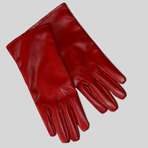 Gloves Vegan Leather Red 'Jade'