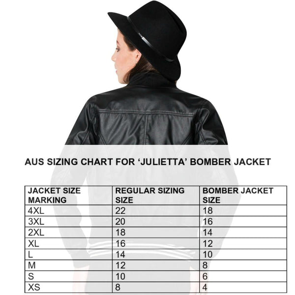 Vegan Fashion Leather Bomber 'Julietta' - au.jamesandco.boutique
