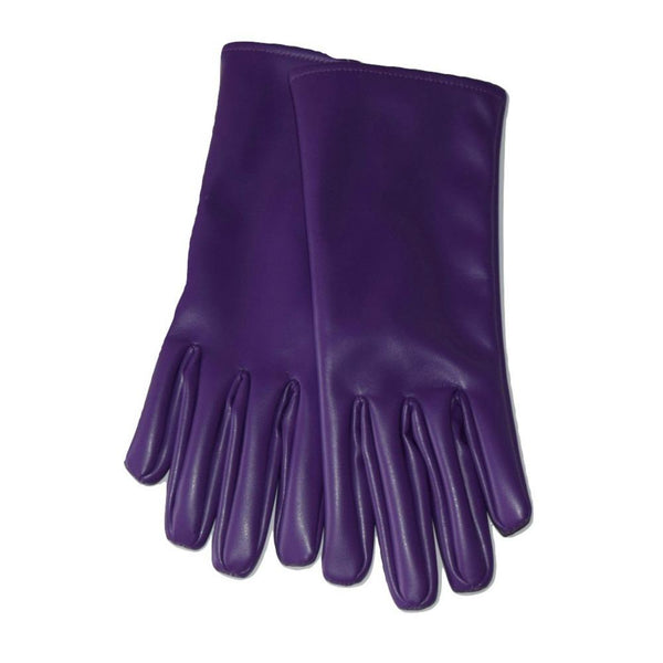 Vegan Leather Gloves 'Jade'  Ultra-Violet - au.jamesandco.boutique