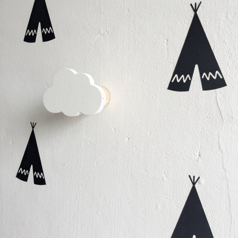 Clouds Wooden Wall Hook
