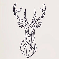 Geometric Deer Vinyl Wall Sticker