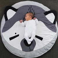 Round Raccoon Play Mat/Rug