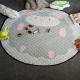 Plush Play Mat and Converitble Toy Bag