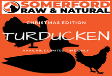 Somerford Raw & Natural - ADULT TURDUCKEN & VEG Pack + FREE Meaty Bones
