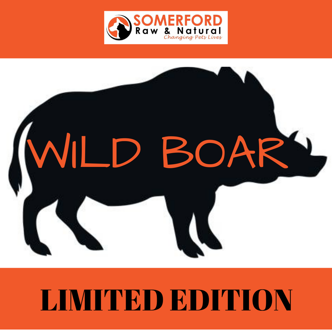 Somerford Raw & Natural - LIMITED EDITION Wild Boar & Veg Pack + FREE Meaty Bones