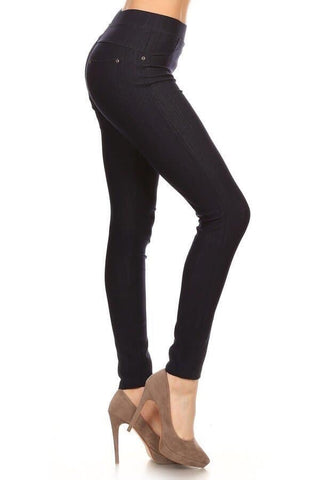 Blue/black jegging