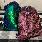 cinch sequin backpack