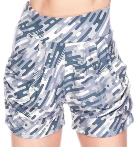 Blue mine craft camo harem shorts