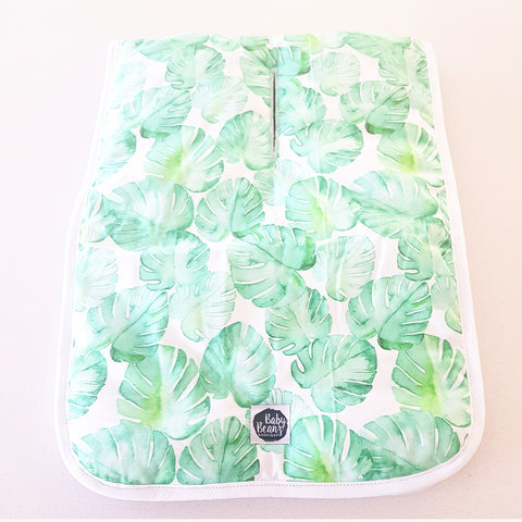 MONSTERA LEAF PRAM LINER