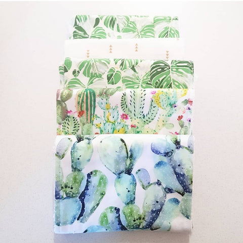 LEAFY DREAM BURP CLOTHS- SET OF 5