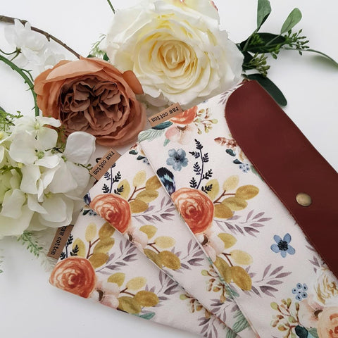 AUTUMN FLOWERS LARGE NAPPY CLUTCH/WALLET