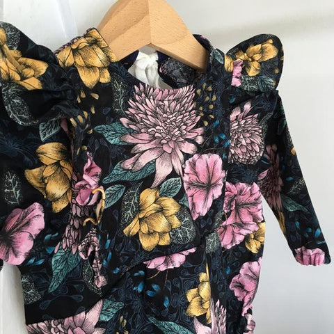 LONG SLEEVE TWILIGHT BLOOMS PLAYSUIT