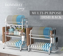 Load image into Gallery viewer, [HOMMBAY Kitchens] Premium 304 Stainless Steel 2 Tier Kitchen Dishrack