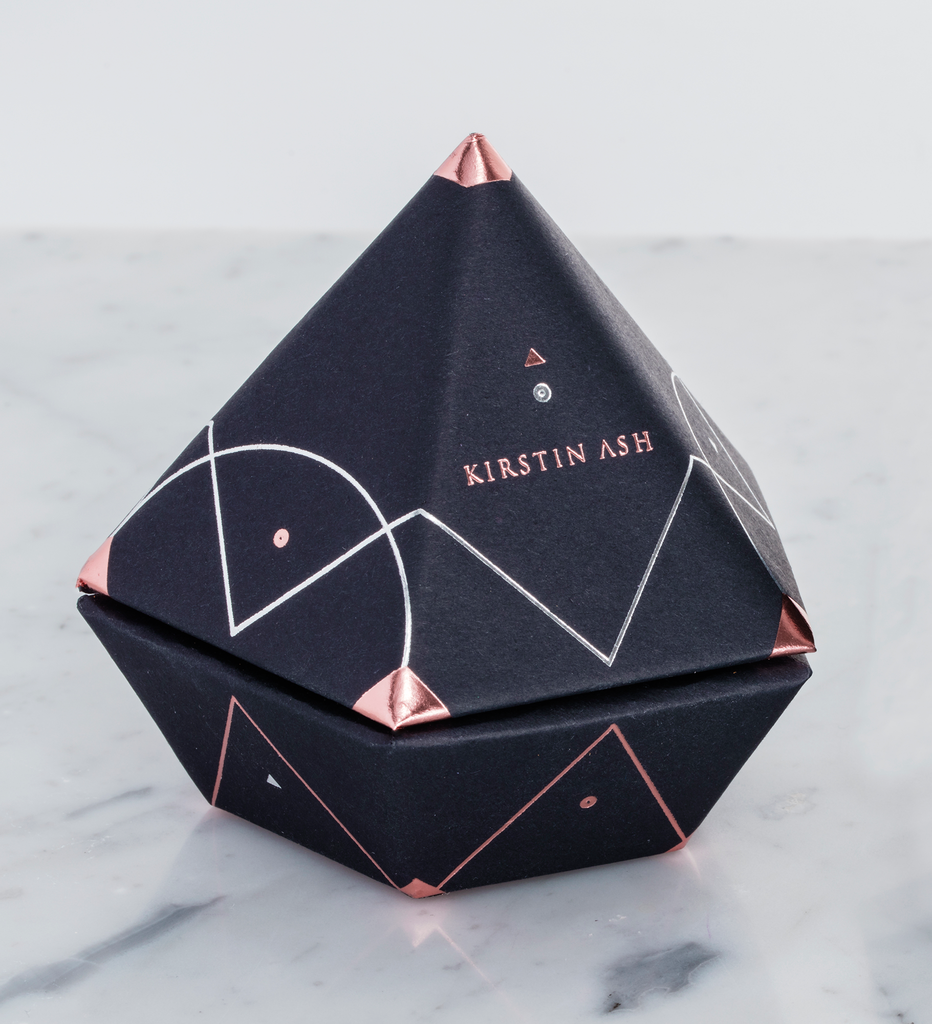 LITTLE KIRSTIN ASH TRIANGLE CHARM Packaging
