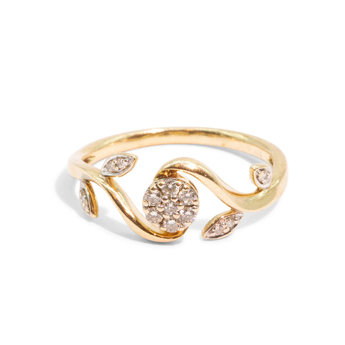 THE ROSA | VINTAGE FLOWER DIAMOND RING