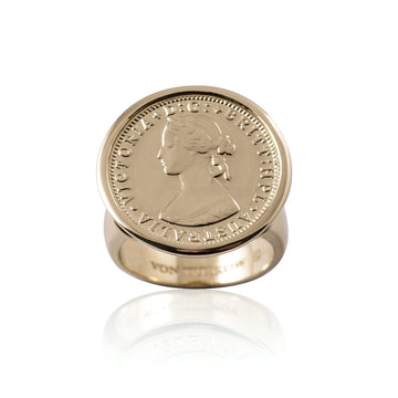 LUXE | SIXPENCE TOKEN RING
