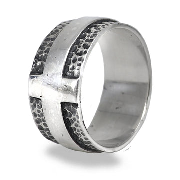 MENS CROSSED PATHS RING