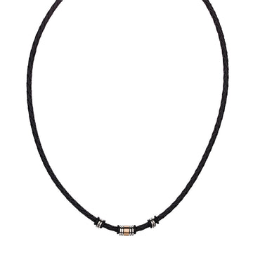 MENS LEATHER NECKLACE
