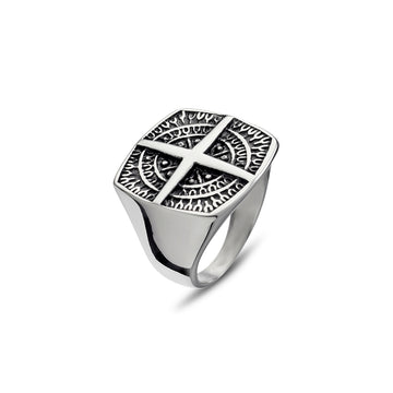 MENS SQUARE DETAIL RING
