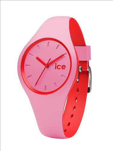 ICE DUO SMALL PINK RED WATCH